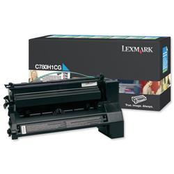 Lexmark Laser Toner Cartridge Return Program High Yield Page Life 10000pp Cyan Ref C780H1CG