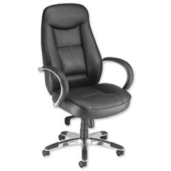 Adroit Executive Languedoc Armchair Back H720mm W550xD530xH480-560mm Black Ref 10488-01