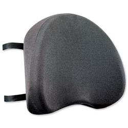Back Support with Removable Cover Adjustable Strap Black