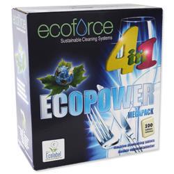 Ecoforce 4 in 1 Dishwasher Tablets Ref 38018 [Box 100]