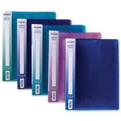 Concord Display Book Flexible Polypropylene 24 Pockets A4 Assorted Ref 7142-PFL [Pack 10]