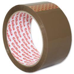 Sellotape Cellux Tape Economy General Purpose 48mmx50m Buff Ref 0550 [Pack 6]