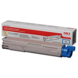 OKI 2.5K Cyan Microfine Laser Toner for C3450/C3600/C3300n/C3400n Ref 43459331