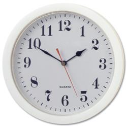 Wall Clock With Coloured Case Diameter 320mm White Ref 316