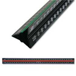 Linex Scale Ruler Triangular Aluminium Colour-coded Scales 1-1 to 1-2500 Ref LXH382