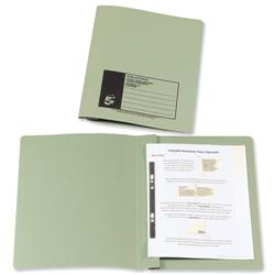5 Star Office Flat Bar File Recycled Manilla 285gsm Capacity 38mm Foolscap Green [Pack 50]