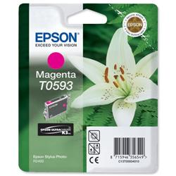 Epson T0593 Inkjet Cartridge Lilly Magenta Ref C13T05934010