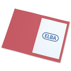 Elba Square Cut Folder Recycled Heavyweight 285gsm Foolscap Red Ref 100090222 [Pack 100]