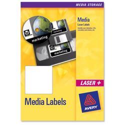 Avery L7666 3.5 inch Disk Laser Media Label 70x52mm 10 label sheets Ref L7666-25 - 25 sheets