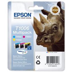 Epson T1006 Cyan/Magenta/Yellow Inkjet Cartridges (Pack of 3) C13T10064010 / T1006