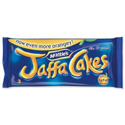 McVities Jaffa Cakes 1g Fat per Cake 3 Cakes per Minipack Ref A07052 Pack 24