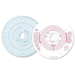 Chartwell Tachograph Discs Kienzle Combined Manual and Automatic Ref CK801/1101GZ - Pack 100