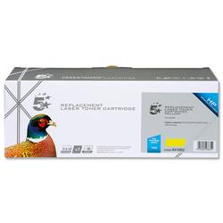 5 Star Office Remanufactured Laser Toner Cartridge 1400pp Yellow [HP No. 125A CB542A Alternative]