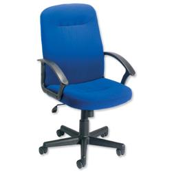 Trexus High Back Manager Armchair W520xD420xH420-520mm Backrest H620mm Royal Blue