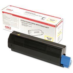 OKI Yellow Laser Toner Cartridge for C5250/5450/5510 Ref 42127454
