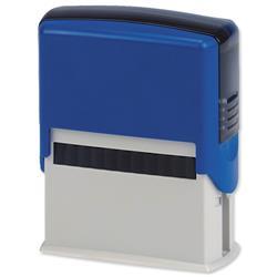 5 Star Office Custom Self-Inking Imprinter Stamp 40x15mm [4 lines]