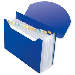 Rexel Optima Expander 13-Part Organiser File A4 Blue Ref 2102484
