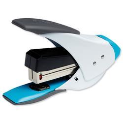 Rexel Easy Touch 20 Quarter Strip Stapler White and Blue Ref 2102562