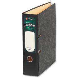 Rexel Classic Lever Arch File Slotted 80mm A4 Cloudy Grey Ref 26145EAST Pack 10