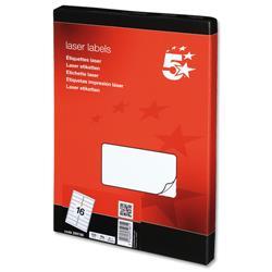 5 Star Office Multipurpose Labels Laser 16 per Sheet 99.1x34mm White [1600 Labels]