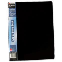 Rexel See and Store Display Book with Full-length Spine Ticket 20 Pockets A4 Black Ref 10555BK