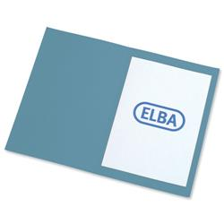Elba Square Cut Folder Recycled Lightweight 180gsm A4 Blue Ref 100090203 [Pack 100]