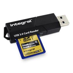 Integral Memory Card Reader SD and MicroSD Formats USB 3.0 Dual Slot Ref INCRUSB3.0SDMSD