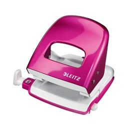 Leitz NeXXt WOW Hole Punch 3mm 30 Sheet Pink Ref 50081023L