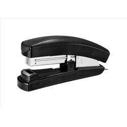 5 Star Office Stapler Half Strip Flat Clinch Top Loading 20 Sheets Black