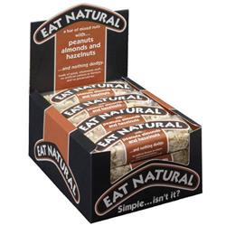 Eat Natural Energy Bar made from Hazel nuts and Almonds 50g [Pack 12]