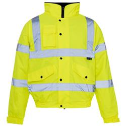 Supertouch High Visibility Standard Jacket Storm Bomber with Warm Padded Lining XLarge Yellow Ref 36844