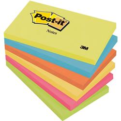 Post-It Super Sticky Notes 76x127mm Aquawave Neon Green Neon Pink Poppy Ref 70005291631 [Pack 6]