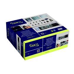 Raaco Workshop Kit 1-Cabinet 3-Steel Wall Panels 22-Assorted Clips 16-Storage Bins Easy Set-Up Ref 139830