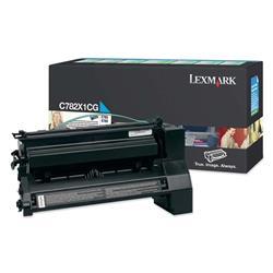 Lexmark C782 Cyan Toner Return Print Cartridge