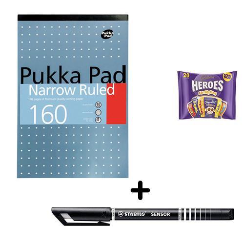 Buy Pukka Metallic Refill Pad 80gsm A4 [Pack 6] & Stabilo