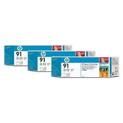 HP 91 Light Cyan Inkjet 3 Pack HP 91 Light Cyan Pack 775ML EACH