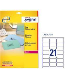 Etichette adesive Avery - per indirizzi - QuickPEEL - 63,5x38,1 mm - 21 etichette/ff - 25 fogli