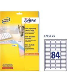 Etichette per diapositive Avery -laser/inkjet - 84 etichette/ff - 25 fogli