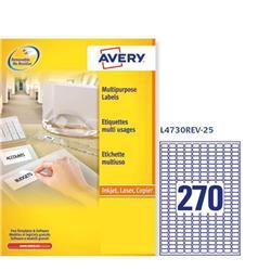 Etichette adesive Avery removibili - 17,8x10 mm - 270 etichette/ff - 25 fogli