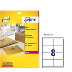Etichette adesive Avery - per indirizzi - QuickPEEL - 99,1x67,7 mm - 8 etichette/ff - 25 fogli