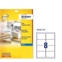 Etichette adesive Avery - trasparenti - QuickPEEL - 99,1x67,7 mm - 8 etichette/ff - 25 fogli