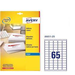 Etichette adesive Avery - mini - inkjet - 38,1x21,2 mm - 65 etichette/ff - 25 fogli