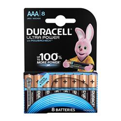 Duracell Ultra Power MX2400 Battery Alkaline 1.5V AAA Ref 81235515 - Pack 8