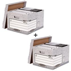 Bankers Box by Fellowes System Large Storage Box FSC Ref 01810-FF Pack 10 - 2 for 1