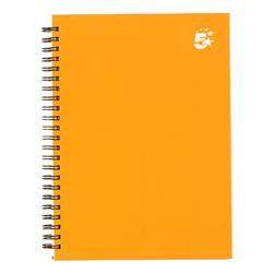 5 Star Twinbound Hardback A5 140Pg Yellow Ref 943461 [Pack 5]