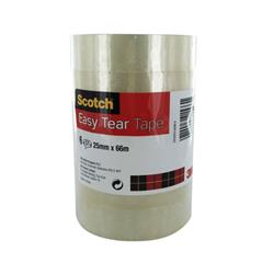 Scotch 508 Clear Tape 25mmx66m Clear Ref 7000088871 [Pack 6]