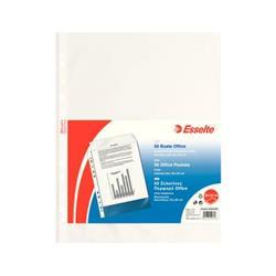 Buste a foratura universale Office Esselte - 22x30 cm - liscia - spessore medio - trasparente - conf. 50