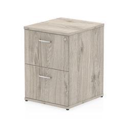 Impulse 2 Drawer Filing Cabinet Grey Oak