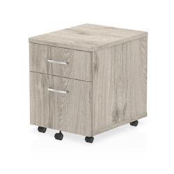 Impulse 2 Drawer Mobile Pedestal Grey Oak