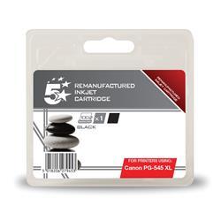 5 Star Office Remanufactured Inkjet Cartridge [Canon PG-545 Alternative] Black